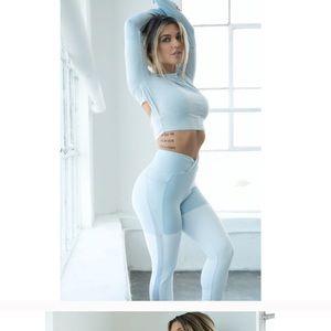 Nikki b season 2 dynamic light blue rare leggings